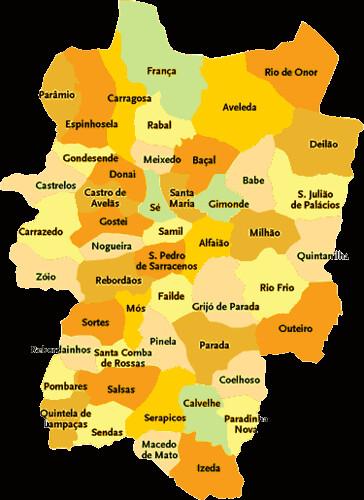 Concelho De Braganca Mapa Das Freguesias Jorge Bastos Flickr