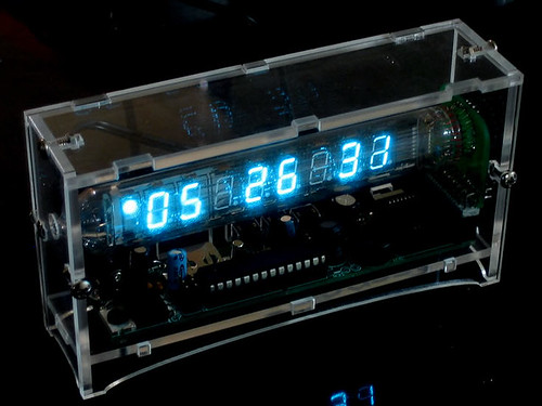 The Ice Tube Clock kit - An open source Russian vacuum fluorescent tube clock it!   by adafruit
