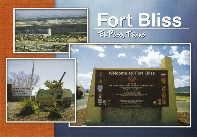 Fort Bliss Army Base Postcard