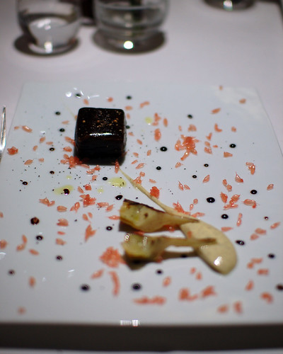 9th Course: Salmon Poached in Licorice Gel | by ulterior epicure