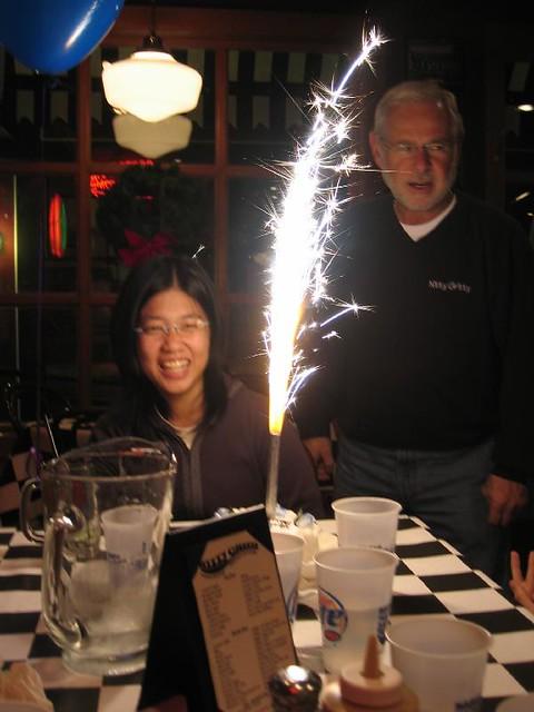 Indoor Big Birthday Cake Sparkler In
