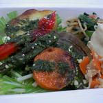 健康食のようなキミドリのグリル野菜弁当うまい