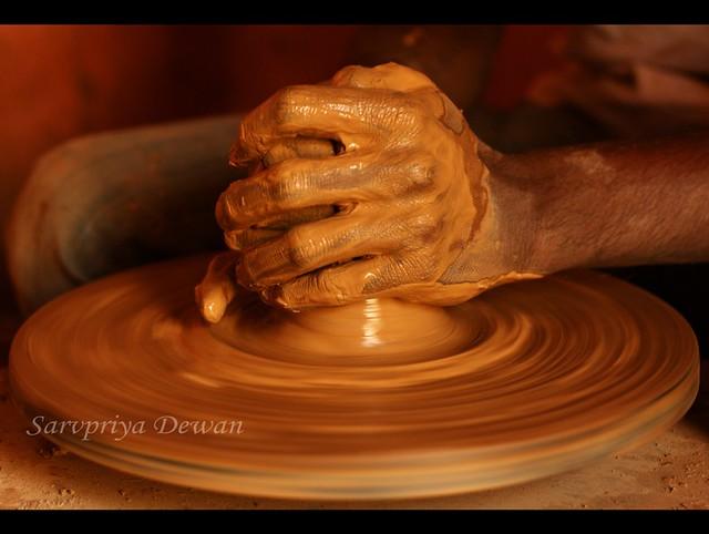 The hands that churn magic... by Sarvpriya Dewan/SD