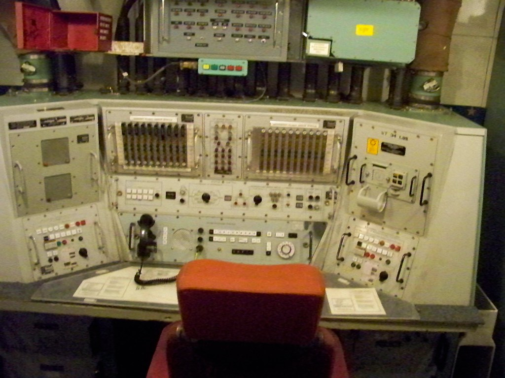 Nuclear Missile Silo Console in the Launch Control Center