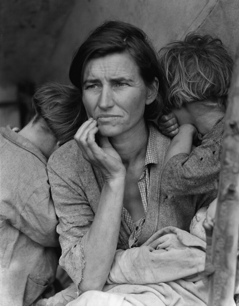 Dorothea Lange: Migrant mother, Nipomo, California, 1936
