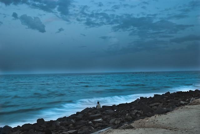Pondicherry Beach - Late Evening