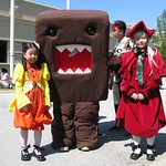 Domokun and Rozen Maiden Shinku and Kanaria cosplay