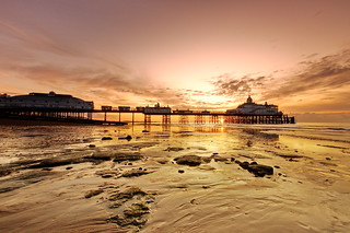 Eastbourne  Pier and the Ball of Fire