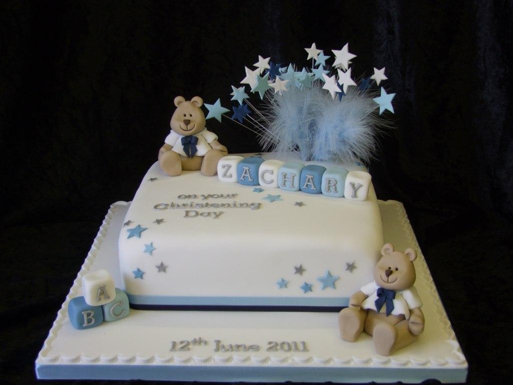 Sailor Bear Christening Cake
