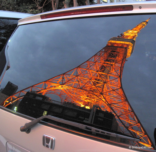 Tokyo Tower on a Honda