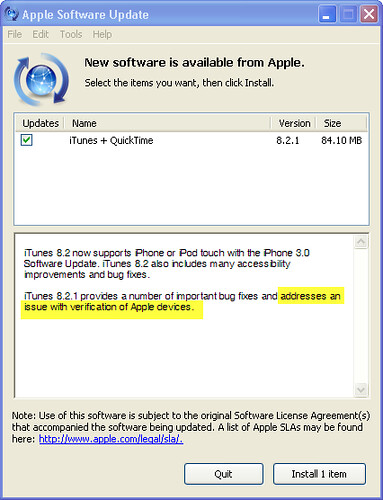 """Apple Software Update 