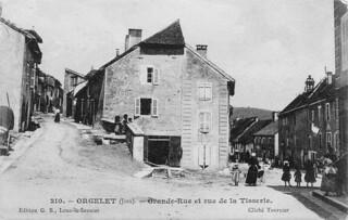 Rue de la Tisserie à Orgelet