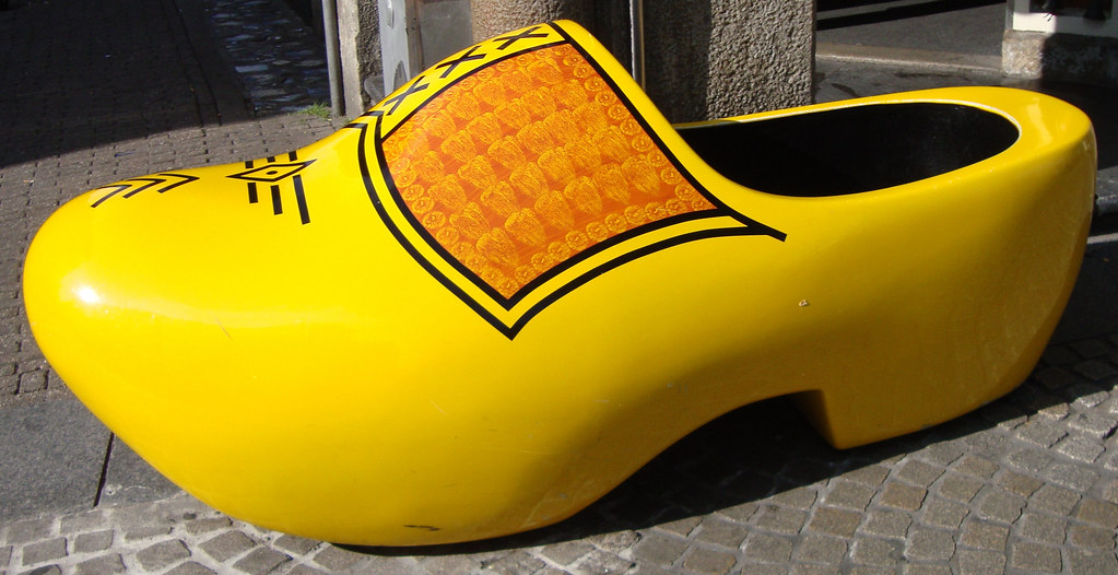 Big Yellow Wooden Shoe Amsterdam The Netherlands Flickr