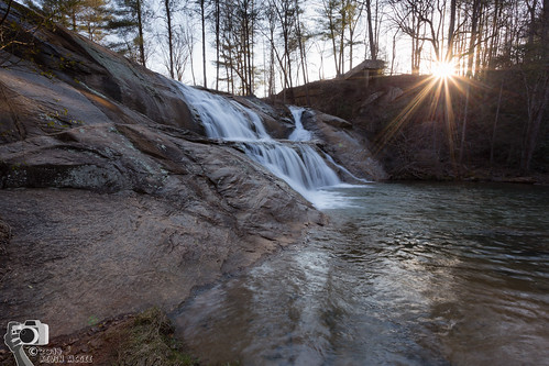 park sunset nature landscape waterfall unitedstates northcarolina valdese mcgalliardfalls