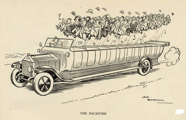 Charabanc | Punch 1924, from the book 'Mr  Punch's Motor Boo