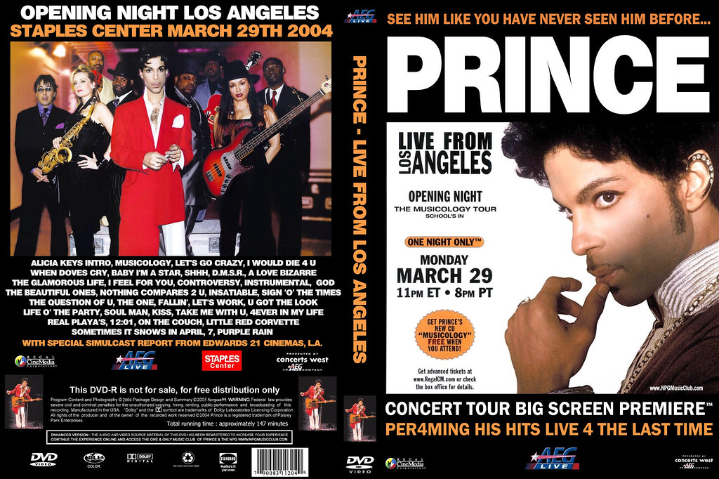 Prince-Live @ Staples Center LA Musicology Tour[3-29-2004