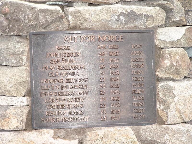 Memorial plaque, Shetland Bus memorial