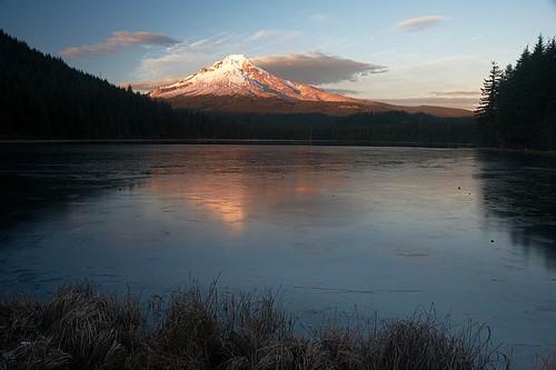 Frozen Trillium Lake | by Nathaniel Reinhart