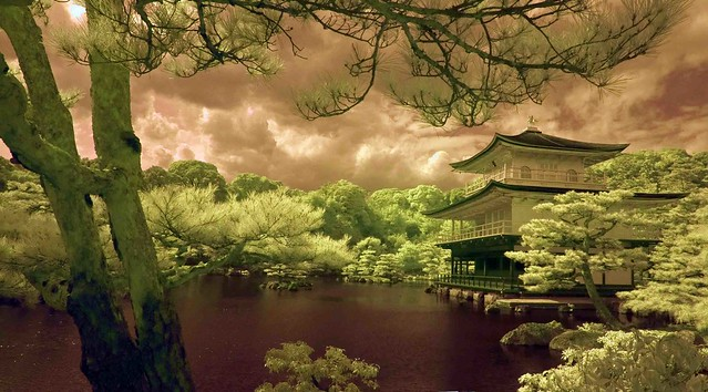 Kinkakuji in Infrared