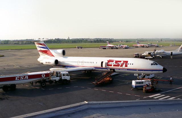 Tupolev Tu-154 CSA OK-VCG Prague Ruzyne Airport