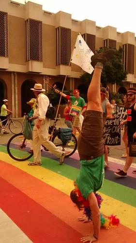 Rainbow handstand