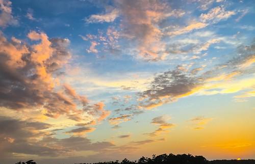bridge sunset colors clouds us unitedstates northcarolina jacksonville