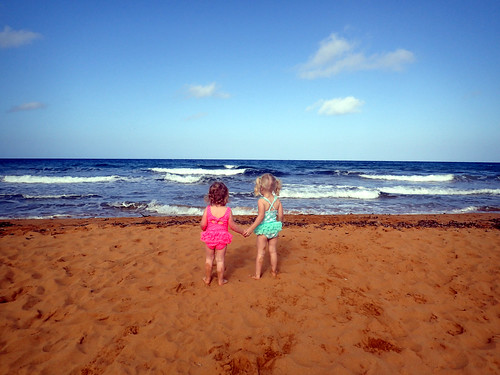 2016 - Europe - Gozo - Beach Day - Girls Holding Hands | by SeeJulesTravel