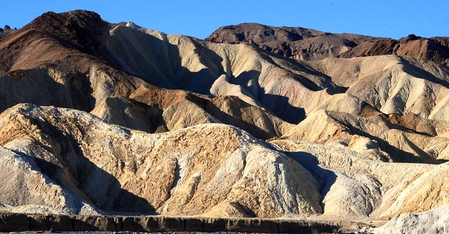 Morning light and shadows at Zabriskie Point