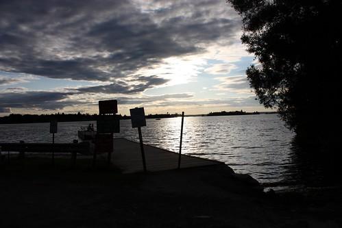 clouds boat thousandislands upstatenewyork sunsetting 1000islands stlawrenceriver chippewabay