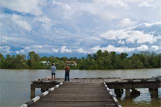 Two Old Man At The Jetty Of Sebangan