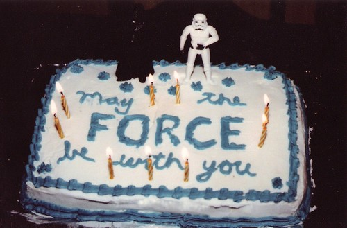 """May The Force Be With You"" Star Wars Birthday Cake"