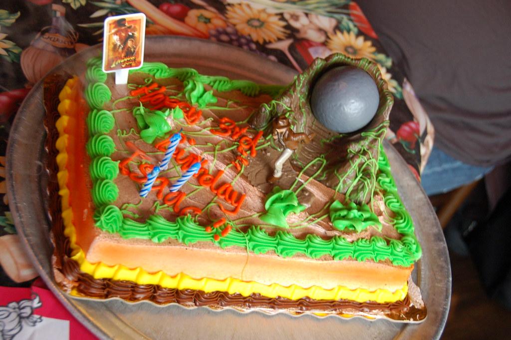 Fantastic Isaacs 3Rd Birthday Party Indiana Jones Cake Are We Bad Flickr Funny Birthday Cards Online Inifodamsfinfo