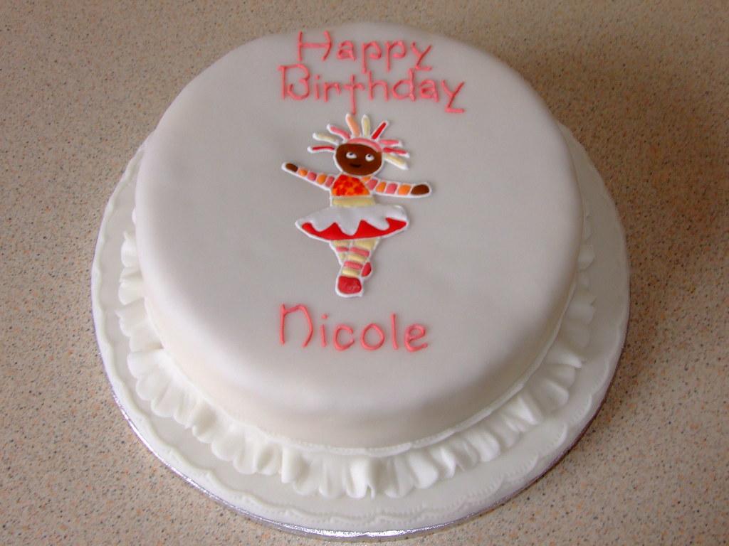 Fantastic Upsy Daisy Cake Nicoles Birthday Cake With An Upsy Daisy Flickr Funny Birthday Cards Online Alyptdamsfinfo