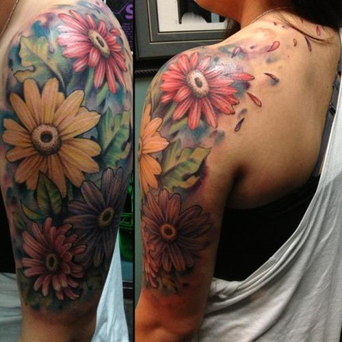 caa8d03dd Half-Sleeve-Girly-Flower-Tattoo | Tattoo Rave | Flickr