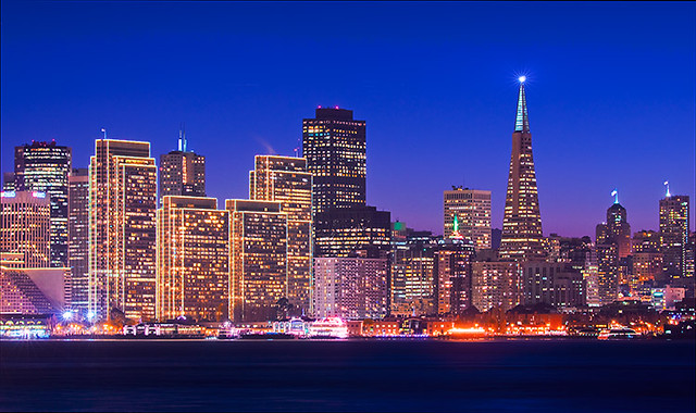 A Twist Of Christmas.Twilight San Francisco Skyline With A Twist Of Christmas S