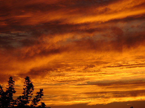 sunset ohio clouds landscape scenery sylvania