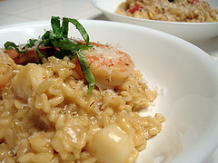 Shrimp and Scallop Risotto with Saffron | by He Cooks She Cooks