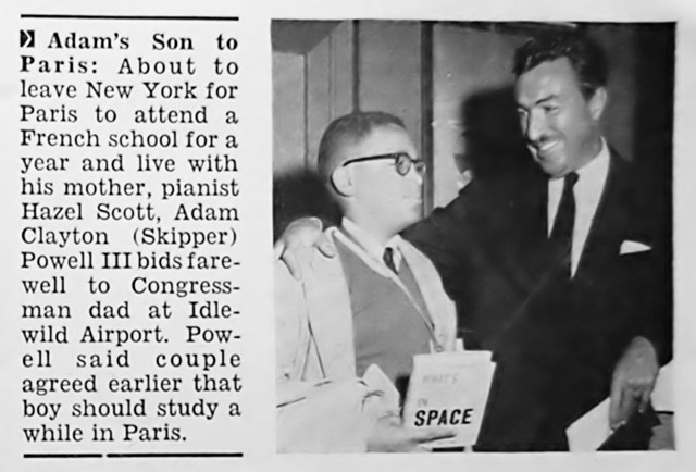 Son of Adam Clayton Powell, Jr to Study in Paris - Jet Magazine, June 26, 1958