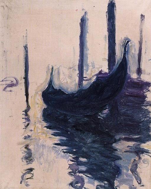 Claude Monet 1908 in Venice - W 1772 - Gondola