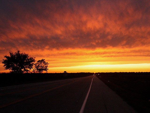 Image result for Sunset on road