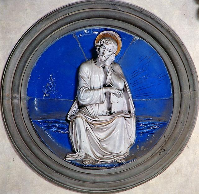 Luca della Robbia - San Mattia, 1460-1465. Firenze, Santa Croce, Cappella Pazzi