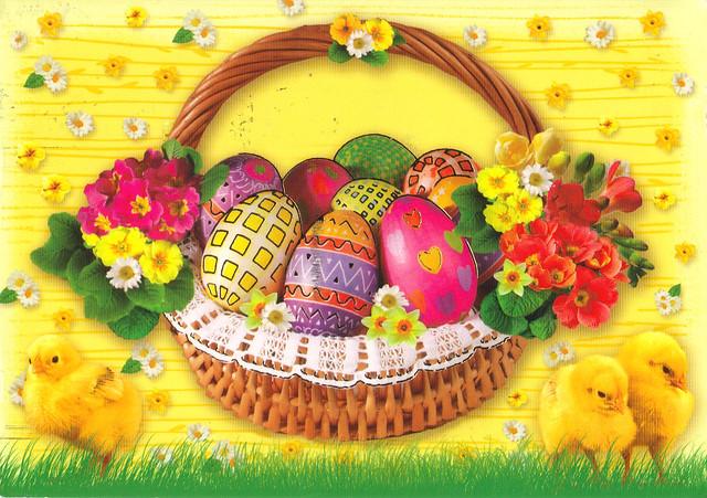 Estonia Easter Postcard