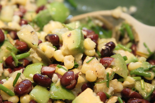 Black bean, corn and tomatillo salad   by Gudlyf