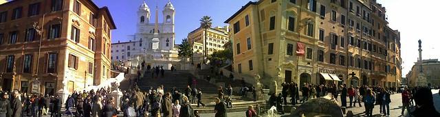 Panorama 180° Piazza di Spagna
