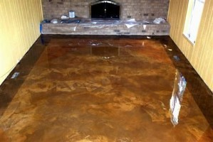 ... Elite Crete thin_stained_overlay_family room [] | by A2 Faux Flooring
