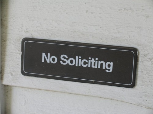 No soliciting | by Dennis.Vu Old