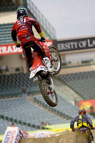 Andrew short following Chad Reed