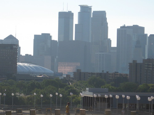 Downtown from the East Bank Campus