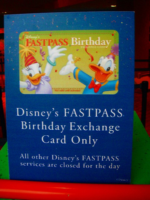 Birthday Fastpass
