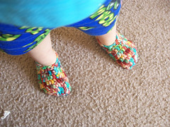 kettle-dyed slippers | by Lisa | goodknits